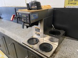 Bunn Model AXIOM-DV-3 Commercial Stainless Steel Coffee Maker, SN# AX00054414, (3) Burners, In-Line