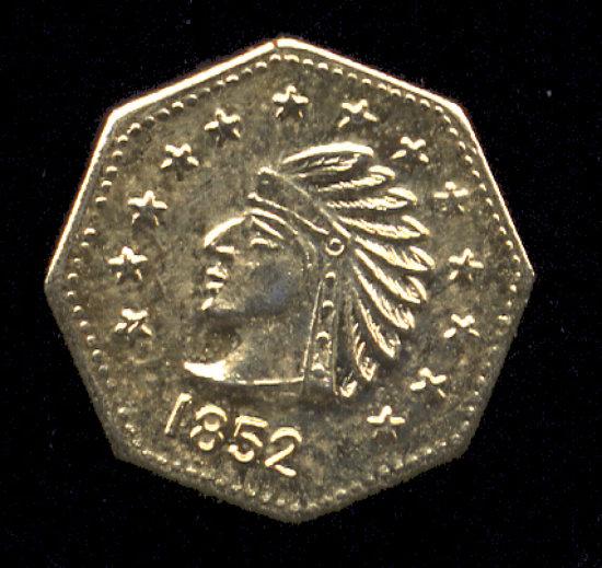 1852 ... 1/2 Gold ... California