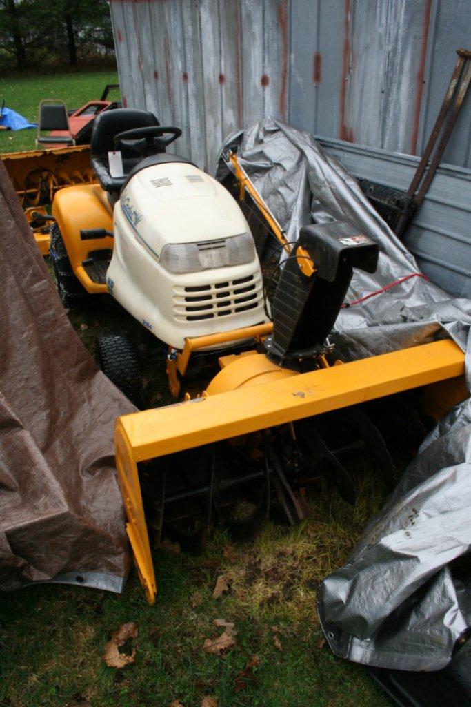 Cub Cadet HD Lawn Tractor w/ (2) Snow Blowers