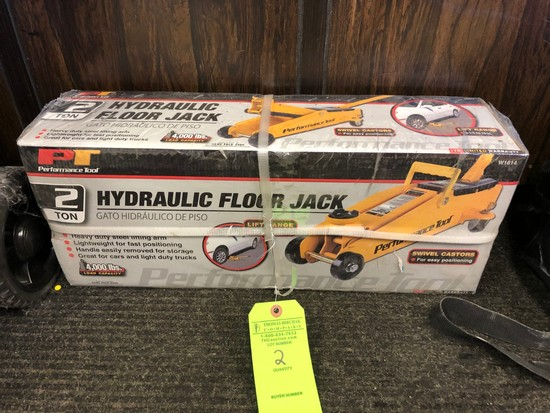 Performance Tool 2-Ton Hydraulic Floor Jack