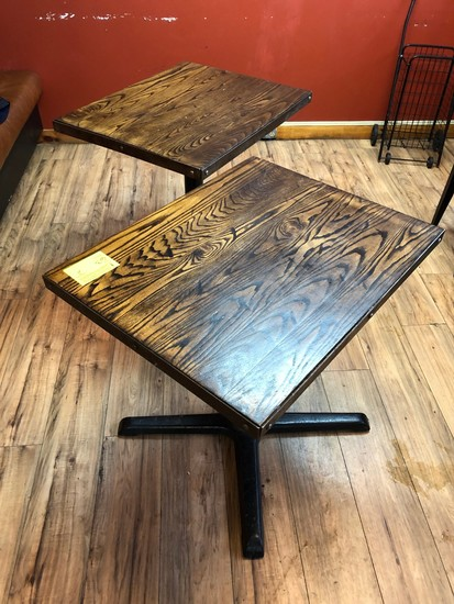 (3) Wood Tables