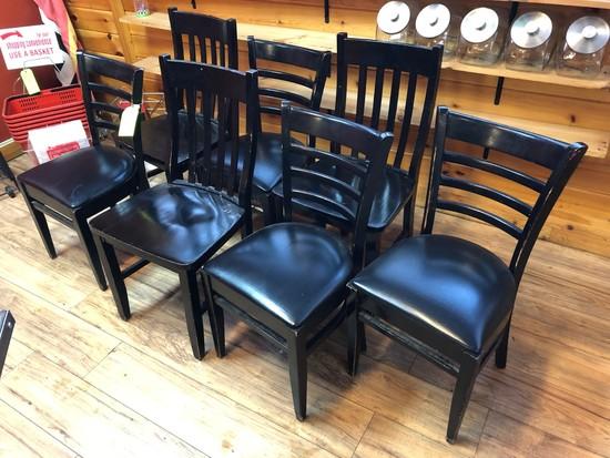 (7) Asst. Wood Chairs