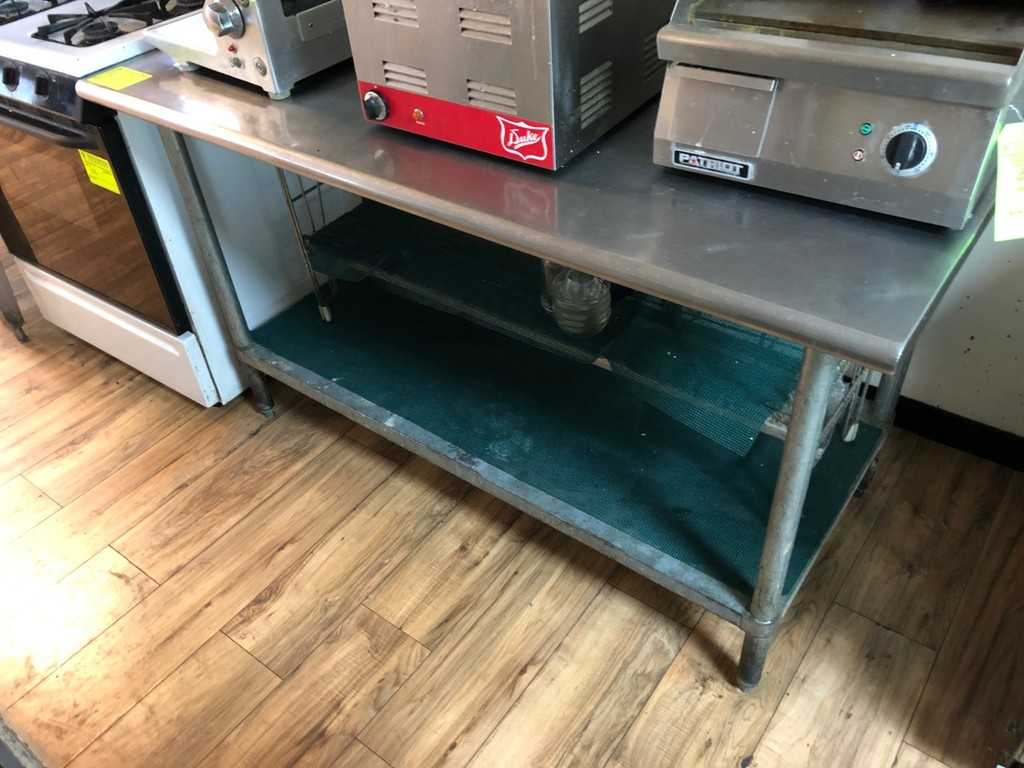 SS Prep Table w/ Undershelf & Wire Rack
