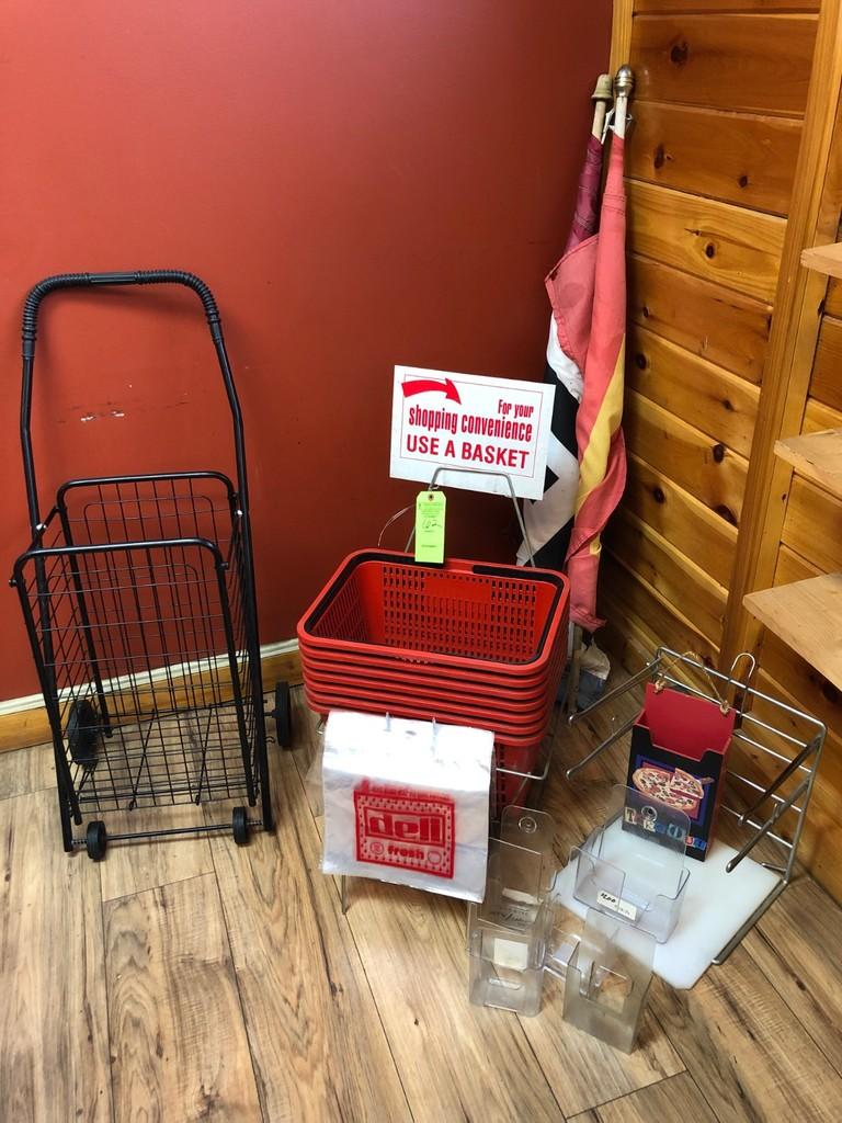 (7) Shopping Baskets & (9) Marketing Displays