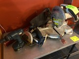 (1) Ridgid Chop Saw & Asst. Power Tools