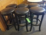 (6) Vinyl-Upholstered Bar Stools