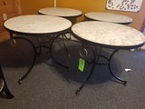 (4) Circular Ceramic-Top Dining Tables