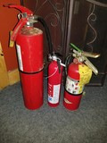 (3) Dry Chemical Fire Extinguishers