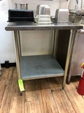 SS Equipment Stand w/ Undershelf