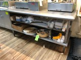 SS Prep Table w/ (2) Undershelves