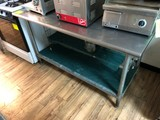 SS Prep Table w/ Undershelf & Wire Rack