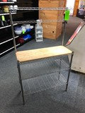 4-Tier Wire Rack w/ Butcher Block Top