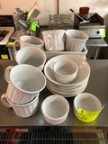 (19) Pcs. Asst. White China
