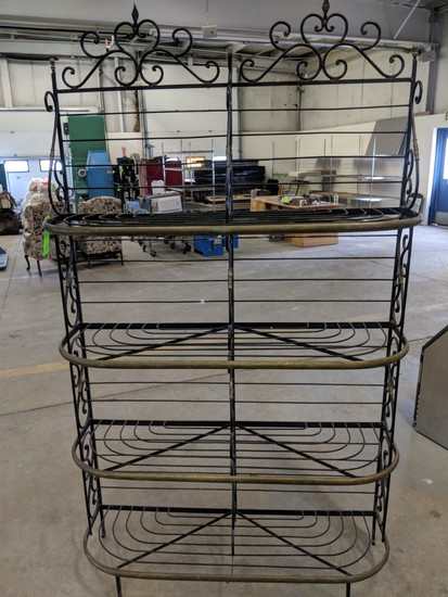 Nice French Style Iron and Brass Bread Rack
