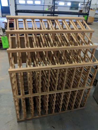 (200+) Bottle Wood Wine Rack
