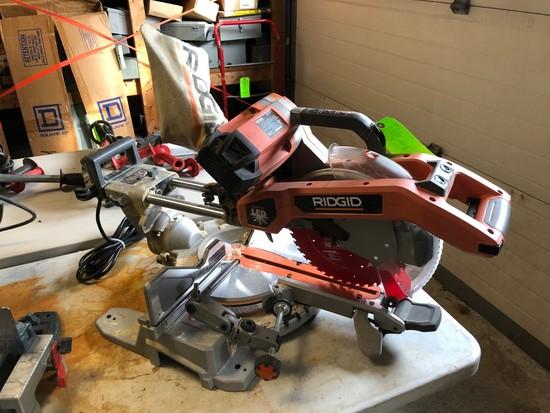"Ridgid 10"" Dual-Bevel Sliding Compound Miter Saw"