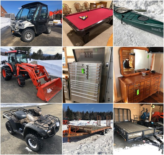 Estate Auction: Tractor, ATVs, Tools, Furniture