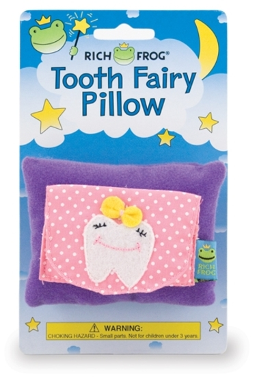 (90+/-) Rich Frog Tooth Fairy Pillows- Girl Tooth