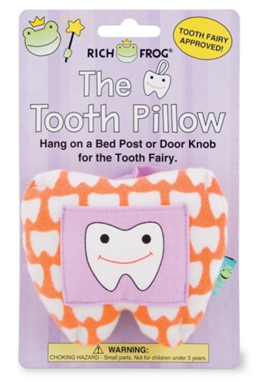 (69+/-) Rich Frog Tooth Pillows- Orange