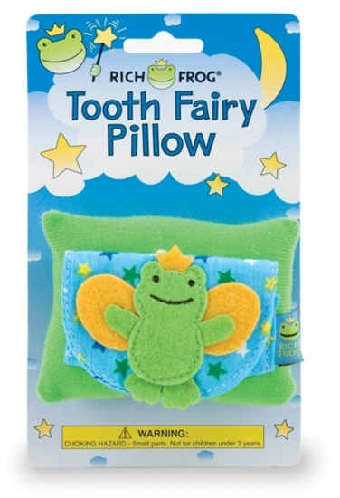 (64+/-) Rich Frog Tooth Fairy Pillows- Fairy Frog