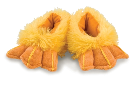 Case of (60)prs. Rich Frog Small Funky Feet Slippers-Duck Feet
