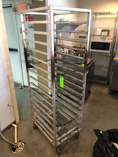 Rolling Aluminum Sheet Pan Rack