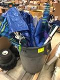 (10) Patio Umbrellas & Poly Tarps