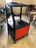 Rolling 2-Shelf Media Cart