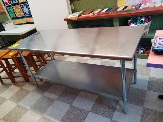 SS Table w/ Undershelf