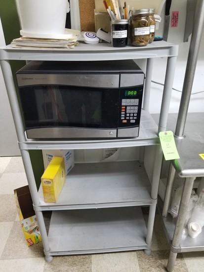 4-Tier Plastic Shelving Unit