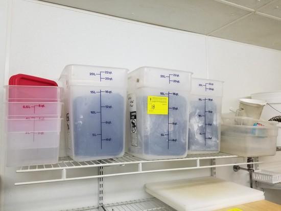 (6) Food Storage Bins