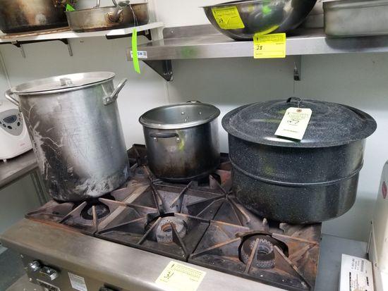 (3) Stock Pots