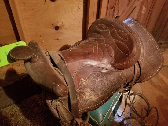 Western Riding Saddle