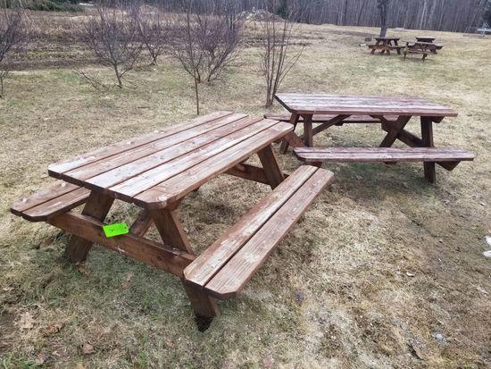 (2) Wood Picnic Tables