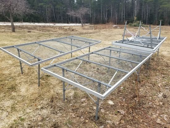 (4) Wire-Top Greenhouse Planting Tables