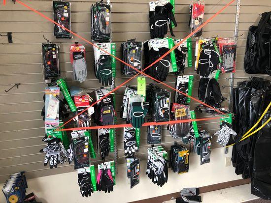 (100+/-) Asst.. Football Gloves