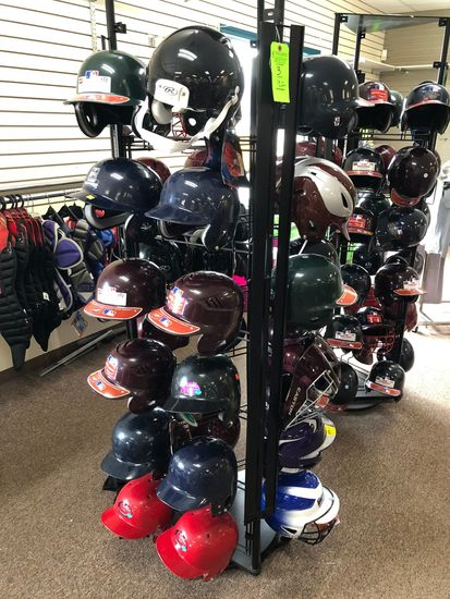 (36) Asst.. Baseball Helmets w/ Display