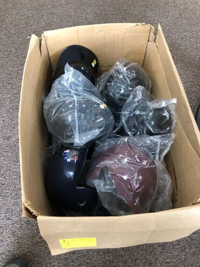 Box of Asst.. Baseball Helmets