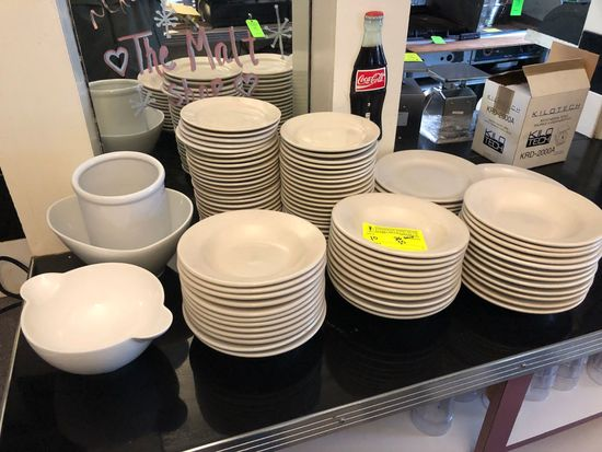 Asst. White China Dinnerware