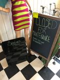 Sidewalk Sign & Dry Erase Board