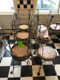 (11) Ornate Wire-Frame Chairs