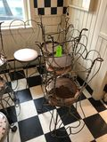(7) Ornate Wire-Frame Chairs