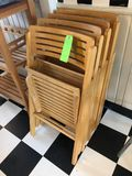 (4) Hardwood Folding Chairs