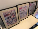 (5) Framed Cartoon Pages & (2) T-Shirt Prints