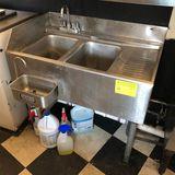 SS 2-Bay Undercounter Sink w/ Scoop Bath Attachment
