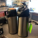 (2) Airpot Hot/Cold Drink Dispensers