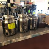 (3) Server Pump Dispensers & (1) Boyd Hot Fudge Dispenser