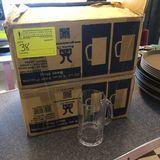 (2) Cases Clear Plastic Beer Mugs