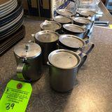 (10) SS Tea Pots