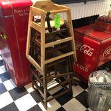 (4) Wood High Chairs